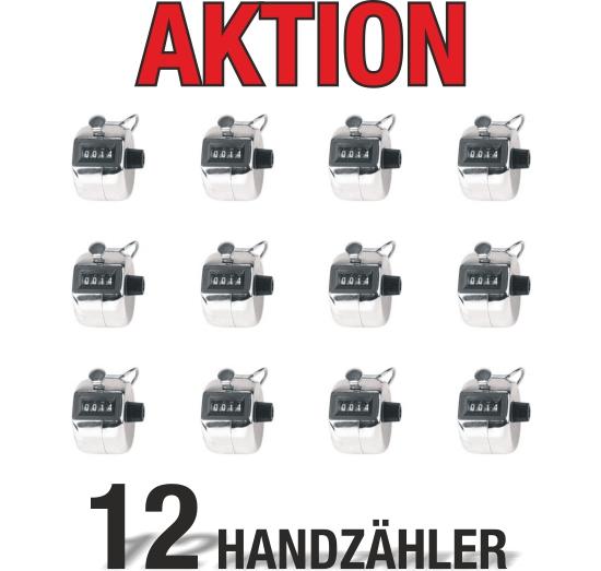 12 Handzähler Mengenzähler Stückzähler Besucherzähler im Sparset