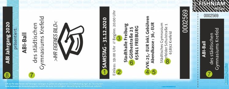 ABI Ticket / Eintrittskarten HiSec