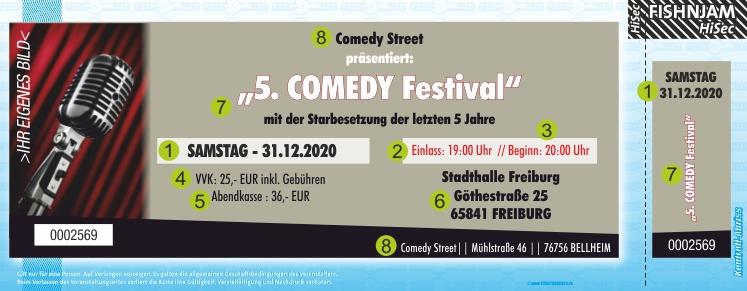 Comedytickets Ticket / Eintrittskarten HiSec