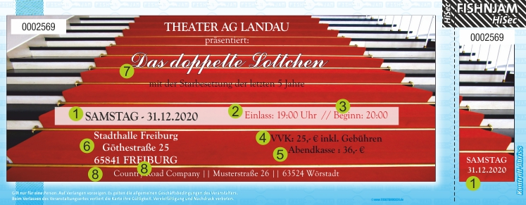 Theatertickets Ticket / Eintrittskarten HiSec